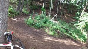 コース終盤の方はドロドロ。横滑りが難敵。